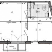 Le Havre, квартирa 2 комнаты, 41,38 m2