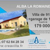 Maison 3 pièces + Terrain Alba-la-Romaine