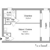 Courseulles sur Mer, Appartement 2 pièces, 35,69 m2