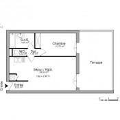 Gif sur Yvette, квартирa 2 комнаты, 44,21 m2