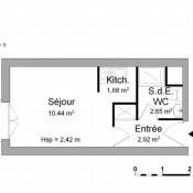 Montrouge, Studio, 17,69 m2