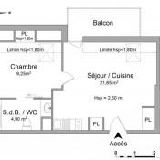 Blois, квартирa 2 комнаты, 35,8 m2