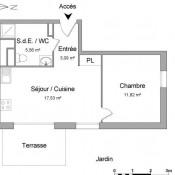 Saint Priest, Appartement 2 pièces, 38 m2