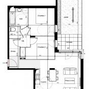 Meyzieu, Appartement 3 pièces, 63 m2