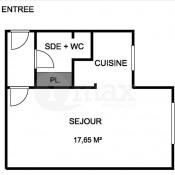 Asnières sur Seine, Studio, 27 m2