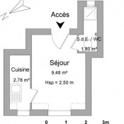 Bois Colombes, Studio, 16 m2