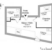 Saint Laurent de la Plaine, Appartement 2 pièces, 26,59 m2