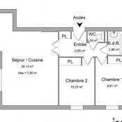 Monteux, Appartement 3 pièces, 59,77 m2