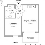 Brignais, Appartement 2 pièces, 37,97 m2