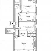 Lyon 6ème, Appartement 3 pièces, 65 m2