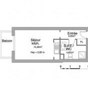 location Appartement 1 pièce Saint Cyr sur Loire