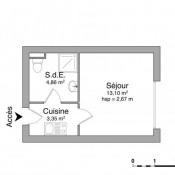 Deauville, Studio, 21,31 m2