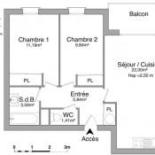 Cognac, квартирa 3 комнаты, 53,87 m2