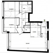 Paris 11ème, 公寓 3 间数, 70 m2