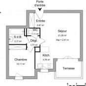 Agen, Apartment 2 rooms, 44.17 m2