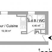 Vitré, Studio, 23.84 m2