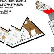 produit d'investissement Appartement 2 pièces Moussy-le-Neuf