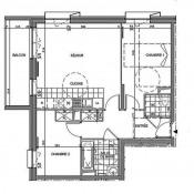 Massy, Appartement 3 pièces, 63,9 m2