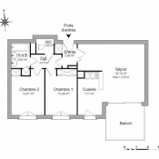 La Riche, Apartamento 3 assoalhadas, 62,28 m2