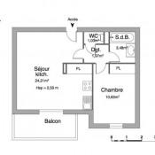 location Appartement 2 pièces Pradines