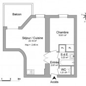 location Appartement 2 pièces Nîmes