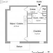 Hérouville Saint Clair, Appartement 2 pièces, 44,05 m2