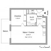 location Appartement 2 pièces Fleury les Aubrais