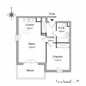 Niort, квартирa 2 комнаты, 43,07 m2