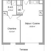 Lyon 7ème, Apartamento 2 assoalhadas, 42,22 m2
