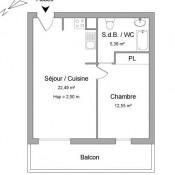 Nanterre, Apartamento 2 assoalhadas, 40,42 m2