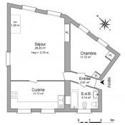Clichy, Apartamento 2 assoalhadas, 60,71 m2
