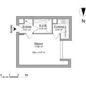 Cergy, Studio, 26,21 m2