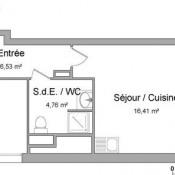 Saint Priest, Appartement 2 pièces, 39,12 m2