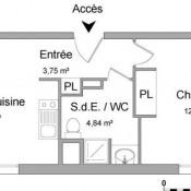 Lyon 7ème, Apartamento 2 assoalhadas, 35,95 m2