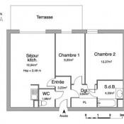 Montlhéry, Appartement 3 pièces, 54,55 m2
