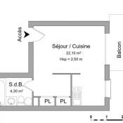 Arcachon, Studio, 26,4 m2