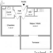 Marseille 10ème, Apartamento 2 assoalhadas, 45,22 m2