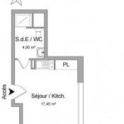 Rennes, Studio, 22,35 m2