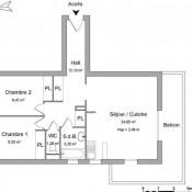Blainville sur Orne, Appartement 3 pièces, 60,12 m2
