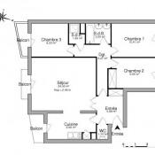 Juvisy sur Orge, Appartement 4 pièces, 81,63 m2