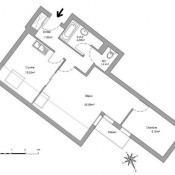 Poisy, Appartement 2 pièces, 52,53 m2