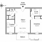 Courdimanche, Appartement 2 pièces, 43,96 m2