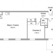 Colomiers, квартирa 3 комнаты, 71,76 m2