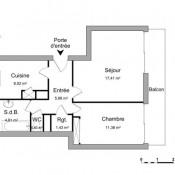Palaiseau, Appartement 2 pièces, 49,58 m2