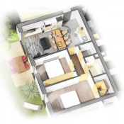 Décines Charpieu, квартирa 4 комнаты, 65 m2