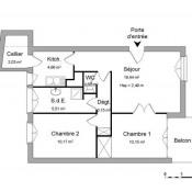 Athis Mons, Apartamento 3 assoalhadas, 55,36 m2