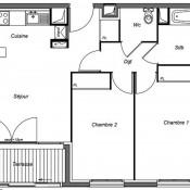 Asnières sur Seine, Apartamento 3 assoalhadas, 57 m2