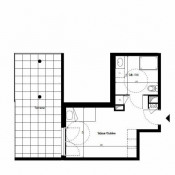 Décines Charpieu, Studio, 24,99 m2