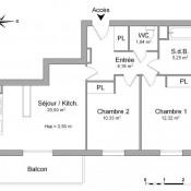 location Appartement 3 pièces La Riviere Saint Sauveur