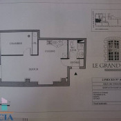 Cognac, квартирa 2 комнаты, 46,79 m2